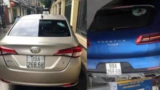 Xe sang Porsche Macan và Toyota Vios cùng mang biển đẹp: Đâu là xe biển giả?