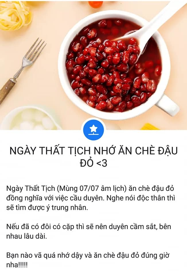 Ngày Thất tịch: Dân mạng ăn chè đậu đỏ cả ngày với hy vọng thoát ế