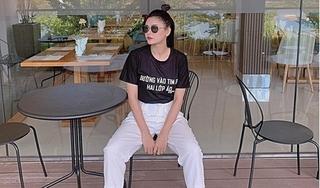 Hậu ly hôn, Trương Quỳnh Anh vẫn mặc áo ủng hộ Tim