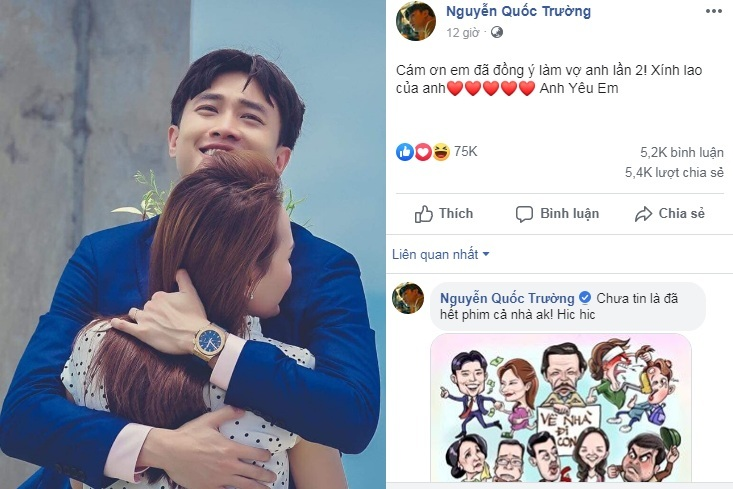 Quốc Trường gửi lời yêu tới Xính Lao khiến hàng loạt fan lịm tim4