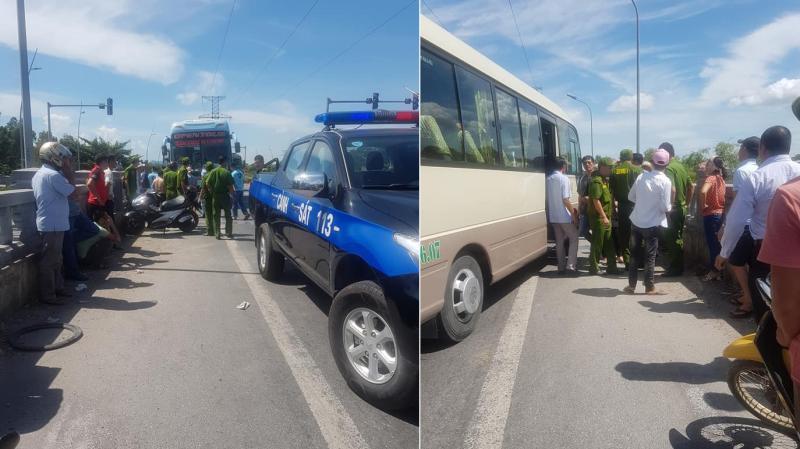 Va chạm giao thông hai tài xế xe khách lao vào hỗn chiến. Ảnh MXH giao thông.