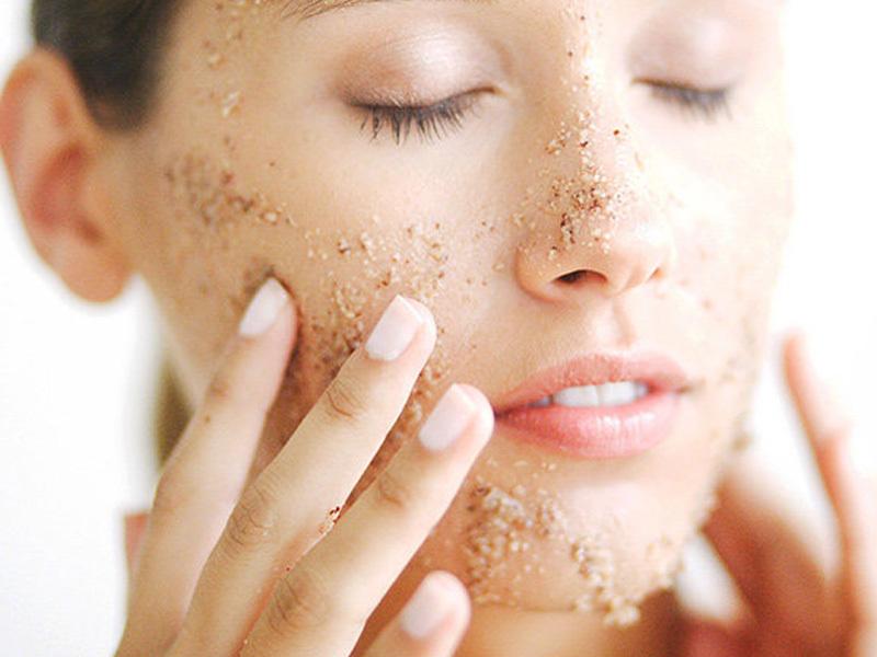 tẩy da chết khi có làn da khô