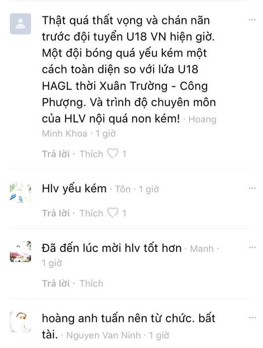 CĐV kêu gọi HLV Hoàng Anh Tuấn từ chức