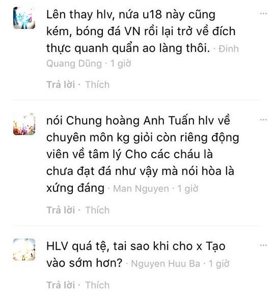 CĐV đồng loạt kêu gọi HLV Hoàng Anh Tuấn từ chức