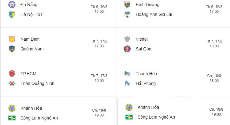 Lịch thi đấu vòng 21 V.League