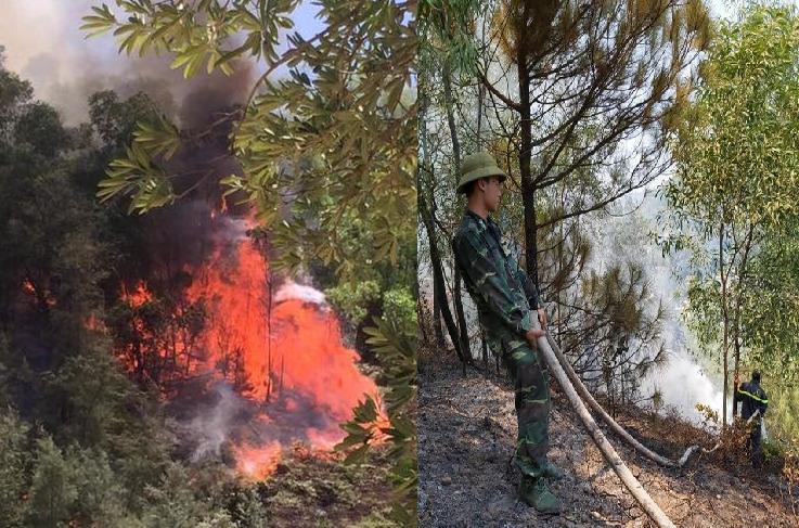 Lại cháy rừng ở Nghệ An nghi do người dân đốt vàng mã rằm tháng 7