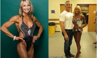 Thân hình nóng bỏng của cụ bà 61 tuổi vẫn mê tập thể hình