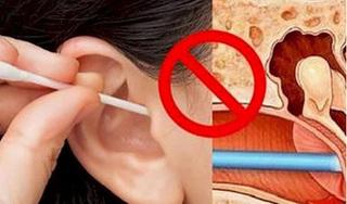 Dùng tăm bông ngoáy tai, người bị nhiễm trùng não