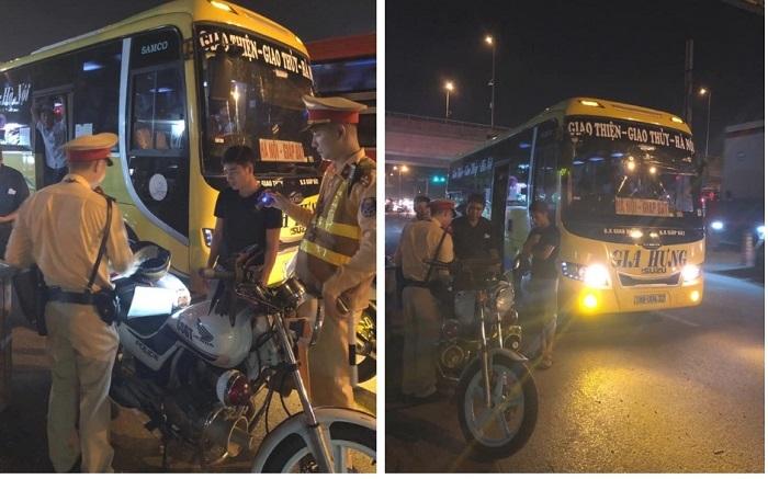 Từ tin nhắn Facebook, CSGT chặn bắt nhà xe Nam Định nhồi nhét khách
