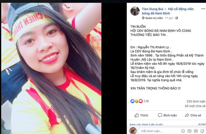Chung tay góp tiền xây nhà cho cha mẹ nữ CĐV Nam Định gặp nạn