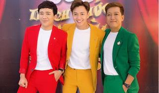 Trấn Thành, Ngô Kiến Huy, Trường Giang khiến fan cười ngất khi mặc đồ như cột đèn giao thông