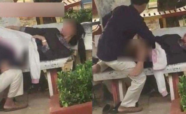 Cặp đôi vô tư ôm hôn, sờ soạng trong áo bạn gái giữa quán cà phê3