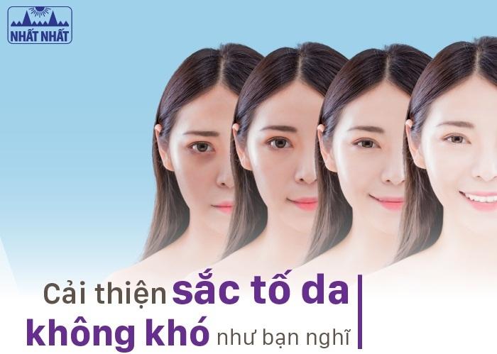 cải thiện sắc tố da giúp cho da trở nên đều màu sáng khỏe