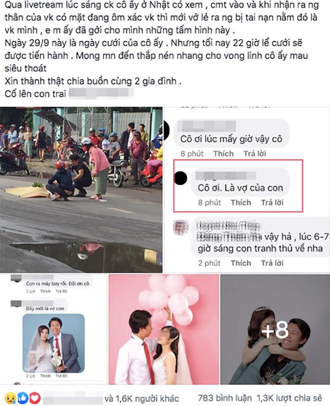 Chú rể bay từ Nhật về tiến hành hôn lễ trong nước mắt sau khi cô dâu tử nạn