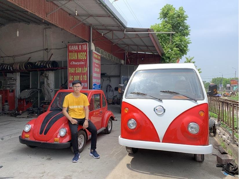 Nam sinh lớp 12 ở Nam Định chế ô tô chạy bằng năng lượng mặt trời đạt vận tốc 60km/h