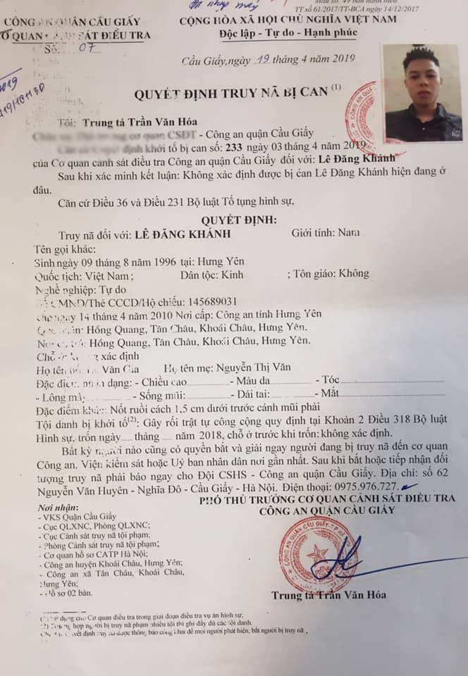Truy nã thanh niên quê Hưng Yên dùng 'phóng lợn' đi đánh nhau