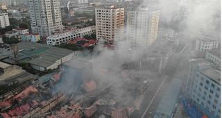 Hiện trường thảm khốc sau vụ cháy kinh hoàng ở công ty bóng đèn phích nước Rạng Đông
