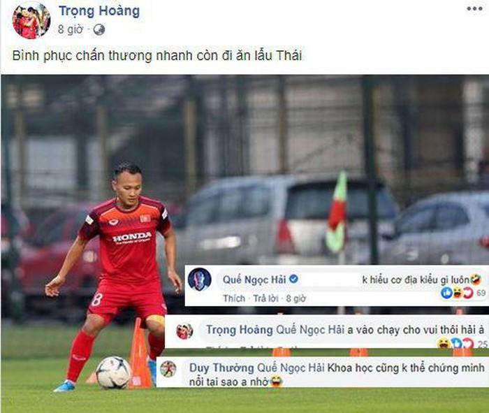Tiền vệ Trọng Hoàng háo hức khi sắp được đối đầu với đội tuyển Thái Lan