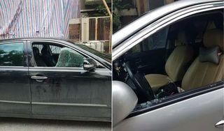 Hàng loạt ô tô bị đập vỡ kính, trộm tài sản trong khu đô thị ở Hà Nội