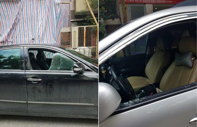 Hàng loạt ô tô bị đập vỡ kính, trộm tài sản trong khu đô thị mới