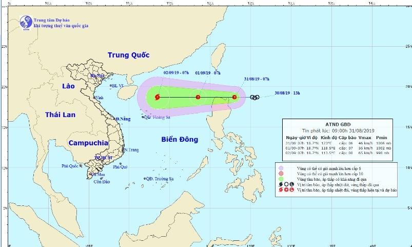 Bão số 4 vừa tan, khu vực miền Trung lại sắp hứng áp thấp nhiệt đới