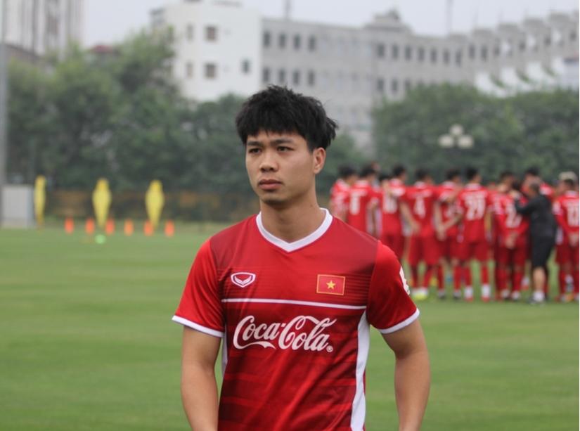Tiền đạo Công Phượng hội quân tự tin thi đấu tốt trước đội chủ nhà Thái Lan