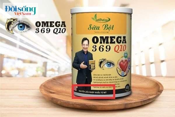 """Sản phẩm sữa Nano enzym Omega 369 Q10, """"mập mờ"""" nguồn gốc nguyên liệu?"""
