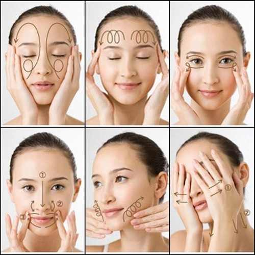 Massage giúp dưỡng da mặt sau sinh