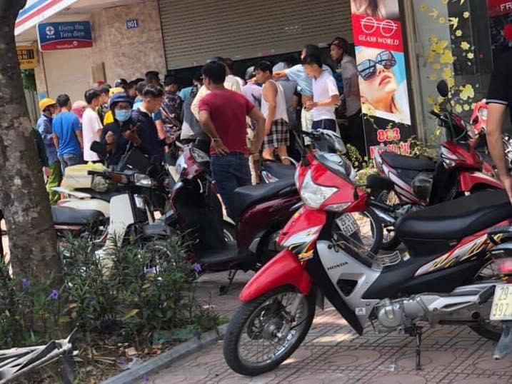 Bắt nam thanh niên cướp ngân hàng ở Hà Nội