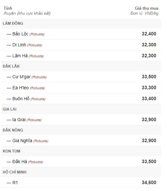 Giá cà phê hôm nay 10/9: Tăng nhẹ trở lại 200 đồng/kg