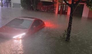 Thái Nguyên chìm trong biển nước sau trận mưa giông lớn sáng nay