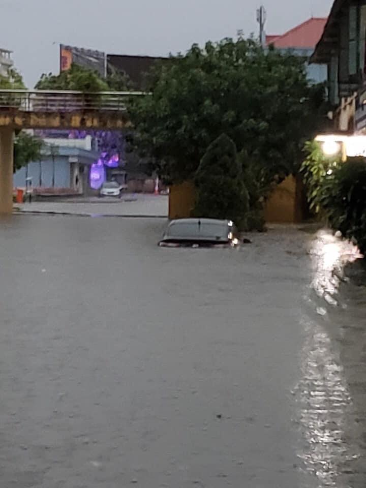 Thái Nguyên ngập nặng sau trận mưa giông lớn sáng nay 2
