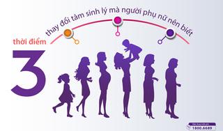Những điều chưa biết về 3 thời kỳ biến động sinh lý nữ