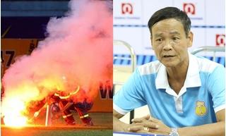 Hội CĐV bóng đá Nam Định ra Hà Nội thăm nữ CĐV bị thương vì pháo sáng