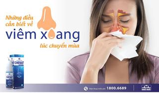 Những điều cần biết về bệnh viêm mũi xoang lúc chuyển mùa