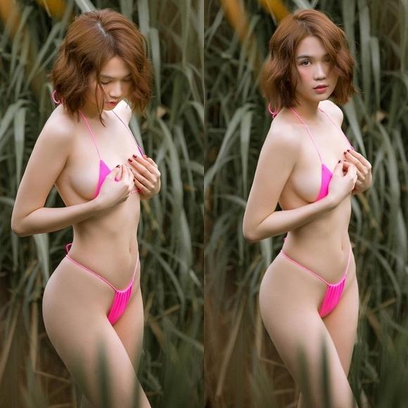 Bị tố photoshop quá đà, Ngọc Trinh tung hẳn clip chứng minh thân hình gợi cảm 100%