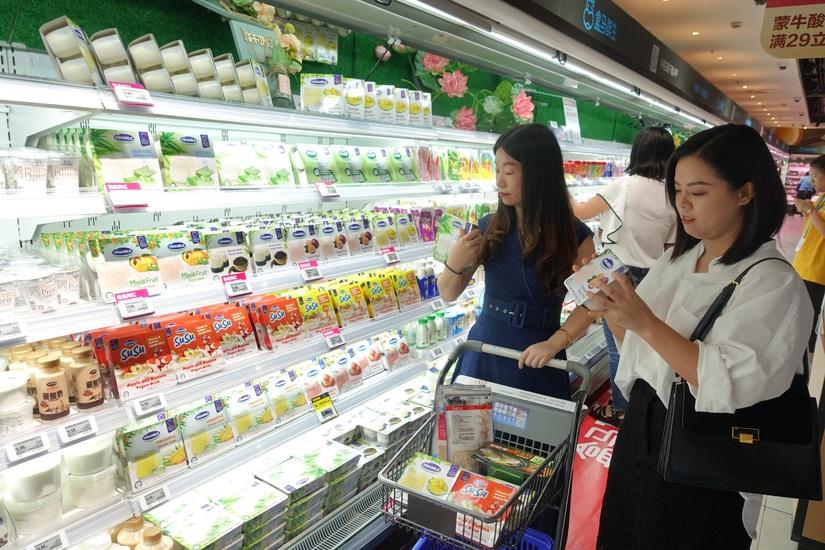 Vinamilk ạo ấn tượng trong sự kiện giới thiệu sản phẩm sữa Việt Nam tại Trung Quốc