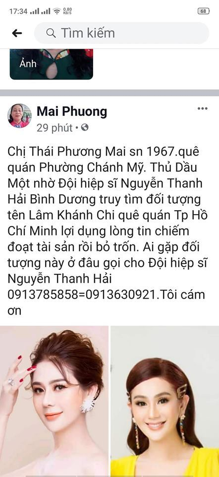 Lâm Khánh Chi khủng hoảng vì bị kẻ xấu tung tin chiếm đoạt tài sản rồi bỏ trốn