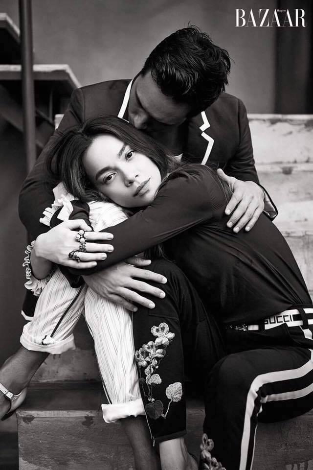 Chùm ảnh Kim Lý hôn Hà Hồ mọi lúc mọi nơi