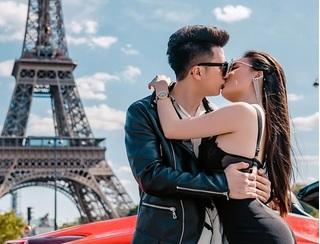 Nữ giảng viên sexy Âu Hà My cùng chồng 'chất lừ' bên siêu xe Ferrari dưới chân tháp Eiffel