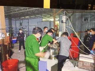 Nhóm người Trung Quốc huy động 20 tấn máy móc chế cả tấn ma túy ở Việt Nam