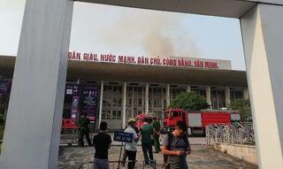 Cháy lớn tại hội trường Cung văn hóa Hữu nghị Việt Xô
