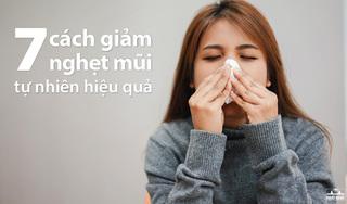 7 Cách làm giảm nghẹt mũi tự nhiên hiệu quả