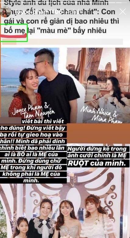 Con gái Minh Nhựa lên tiếng về lời đồn cơm không lành với Mina Phạm