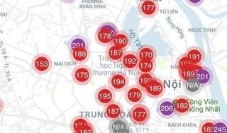 Những khu vực nào ở Hà Nội đang ô nhiễm không khí nghiêm trọng?