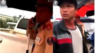 Công an Hưng Yên lý giải về chiếc bộ đàm người đàn ông 'lạ' để lên xe CSGT