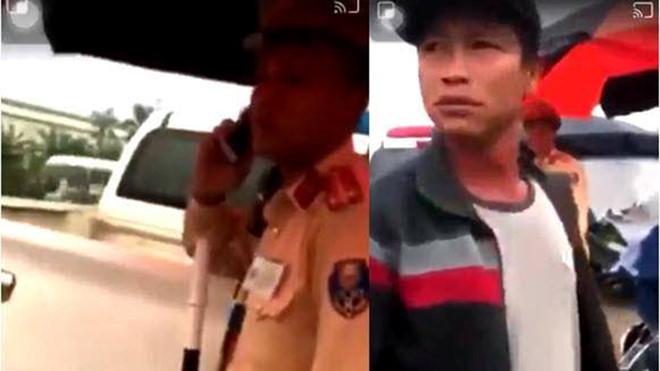 Công an đã xác định được danh tính người đàn ông hành hung dân trước mặt CSGT ở Hưng Yên.