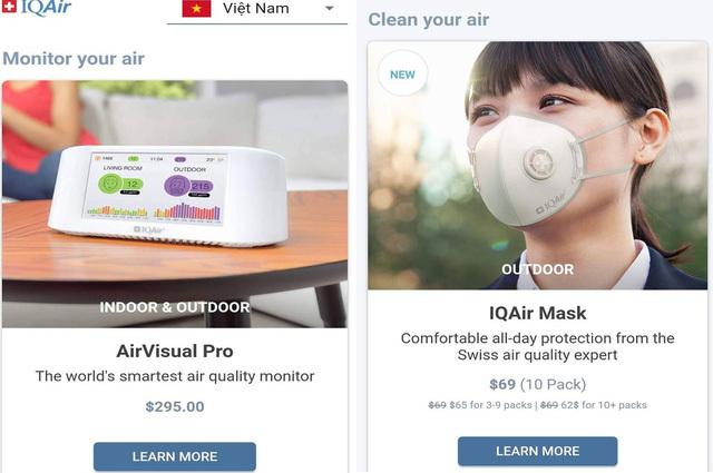 Ứng dụng AirVisual cảnh báo ô nhiễm môi trường bỗng dưng biến mất5