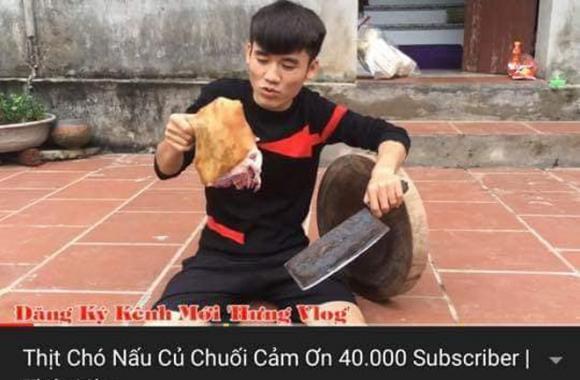 Làm clip nấu thịt chó với củ chuối, con trai bà Tân Vlog bị tẩy chay
