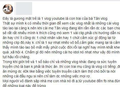 Làm clip nấu thịt chó với củ chuối, con trai bà Tân Vlog bị tẩy chay2